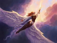 Hey, for once, an awesome woman in a Fantasy-genre setting with wings that is not HALF-NEKKID!