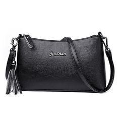147ae068cfcd Women s Genuine Leather Handbag Tassel Day Clutches Cow Leather Handbags