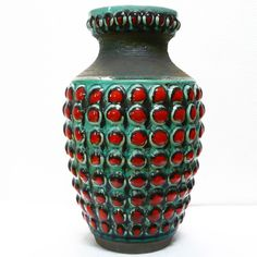 XXL West German Pottery Floor Vase / Bodenvase • Bay • 70's • H 50 cm