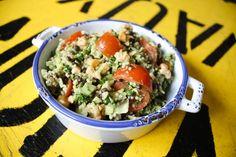Belugalinsen- Couscous- Salat