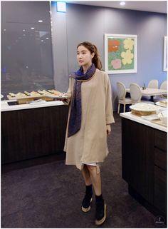Side Slit Dress And Long Cardigan Set #koreanfashion #women #style #fashion #cardigan #outerwear #dress