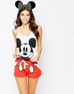 Buy Missimo Disney Mickey Mouse Short Pyjama Set at ASOS. Get the latest trends with ASOS now. Cute Pajama Sets, Cute Pjs, Cute Pajamas, Pijama Disney, Disney Pajamas, Disney Mickey, Lazy Day Outfits, Night Outfits, Cute Outfits