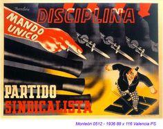 Spain - 1936. - GC - poster - autor: Monleón