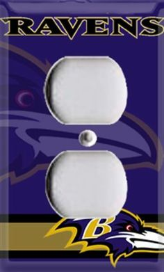 Football Baltimore Ravens Single Outlet Cover Room Decor | eBay