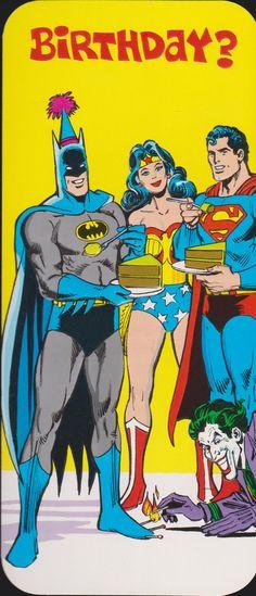 1978 SUPERMAN BATMAN Wonder WOMAN Joker retro by vintagerecycling