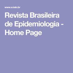 Revista Brasileira de Epidemiologia - Home Page