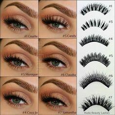 Manicure & Makeup   Huda Beauty Lashes