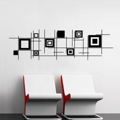 Foto principal de Adesivo Quadrados Abstratos