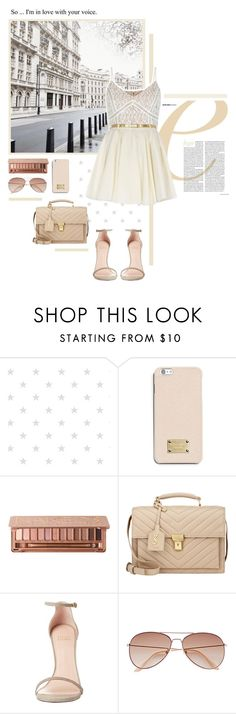 """""""""""Wake up,"""" he whispers."""" by alexandra-provenzano ❤ liked on Polyvore featuring INC International Concepts, MICHAEL Michael Kors, Urban Decay, Yves Saint Laurent, Stuart Weitzman, H&M and River Island"""