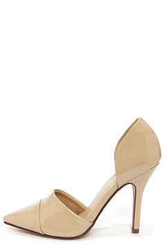 551f1eef8163 My Delicious Tamika Dark Beige Patent D Orsay Pumps