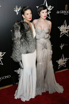 Demi Moore Fur Coat  Demi Moore looks vintage Hollywood glam in this fur coat.