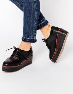 ALDO | ALDO - Chaussures à lacets semelles compensées chez ASOS