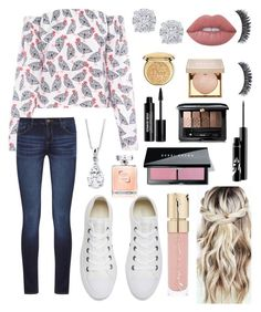 """""""Classy 11"""" by ella-goodness on Polyvore featuring FLOW the Label, Converse, DL1961 Premium Denim, Effy Jewelry, Lime Crime, Christian Dior, Stila, Edward Bess, Guerlain and Bobbi Brown Cosmetics"""
