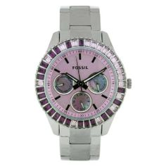 Fossil Women's ES2959 Stainless Steel Analog with Pink Dial Watch Fossil. Save 28 Off!. $89.70. Water-resistant to 50 Meters(165 feet). Scratch resistant mineral. Analog quartz movement. Stainless steel case. Case diameter: 37