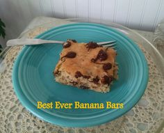 Cathryn Cade's Best Ever Banana Bars, a scrumptious cookie bar featured in Bake, Love, Write