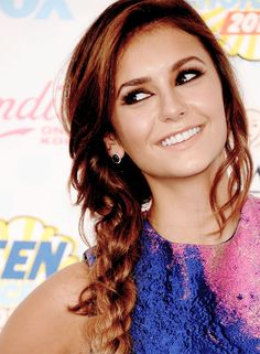 Nina Dobrev on the 2014 Teen Choice Awards red carpet.  August 10th, 2014.