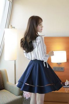 Punching April Skirt   Korean Fashion