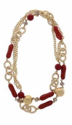 Aufregend angekettet. Auch in blau - gold :-) #halskette #jewelry #schmuck