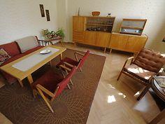 historic former East Germany apartment. Mid-century Interior, Interior Styling, Interior Architecture, Interior Design, Retro Apartment, Apartment Design, Vintage Furniture, Home Furniture, Danish Furniture