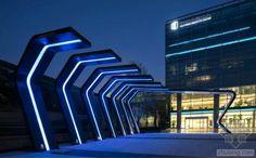 北京科技商务区示范区景观外部夜-北京科技商务区示范区景观第16张图片
