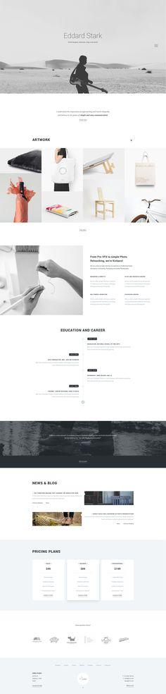 Kora - Portfolio Template for Agency & Freelancers - PSD Templates | ThemeForest