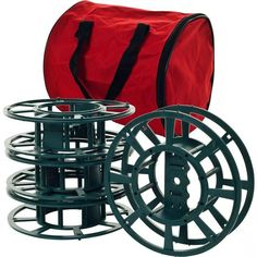 Trademark Home Collection 82-Yj811 Set Of 4 Extension Cord Or Christmas Light Reels With Bag