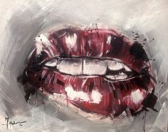 Lips Study - Acrylic on Canvas 40*60 cm