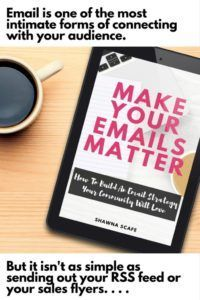 A new ebook all about the why and how of using email as a blogger, business or online shop.  Make your emails matter, how to build an email strategy your community will love.
