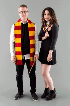 Wizards Hermione Granger Harry Potter DIY Halloween Couples Costume