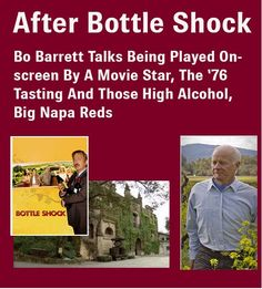 After Bottle Shock, interview with Bo Barrett of Chateau Montelena