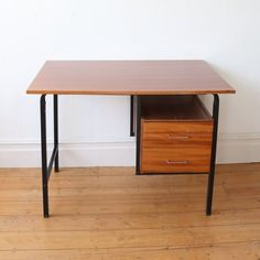 Mid century French office desk work desk study desk | Etsy