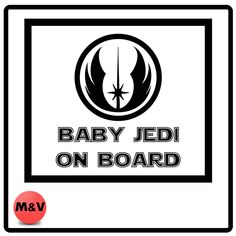 Star Wars Baby Jedi On Board Bumper/Window Sticker