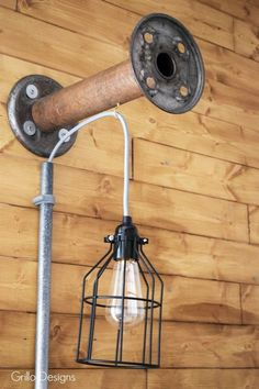 DIY Industrial Bobbin Light #fixerupperstyle