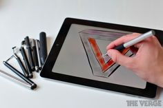 The Verge - Best iPad Stylus New Gadgets, Gadgets And Gizmos, Technology Gadgets, Cool Gadgets, Stylus, Best Ipad, Cool Things To Buy, Good Things, Ipad Accessories