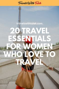 20 Travel Essentials for Women Who Love to Travel - As a frequent international traveler, people often ask me what the best travel accessories are for - Travel Essentials For Women, Best Travel Accessories, Packing List For Travel, Packing Lists, What To Pack, Travel Gifts, Travel Rewards, Solo Travel, Travel Style