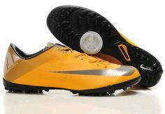 Nike Mercurial Vapor Superfly II TF Astro Turf Mens Soccer Cleats(Orange Peel Metallic Silver Volt Metallic Hematite)