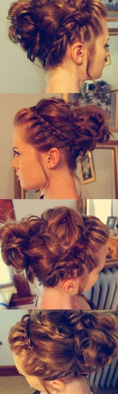 18 Elegant Hairstyles for Prom: #15. Halo Braided Updo