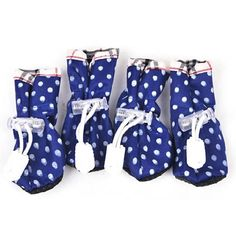 Puppy Shoes Polka Dot 4PCS Fad Dog Pet Anti-slip Waterproof Boot Clothes Costume