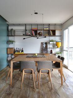 Home Interior Design, Interior And Exterior, Modern Decor, Mid-century Modern, Sala Grande, Bohemian Decor, Bedroom Decor, Dining Room, Shelves