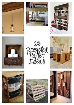 With imagination, you can create anything with pallets or re-purposed wood from the pallets. To help get you going, here are 20 Recycled Pallet Ideas.