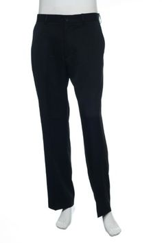 Perry Ellis Solid Black Flat Front Dress Pants, Size 34X30 Mens Dress Pants, Men Dress, Perry Ellis, Black Flats, Solid Black, Sweatpants, Shirts, Dresses, Fashion