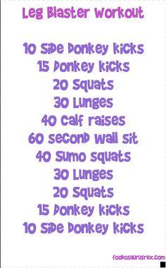 Leg Blaster Workout