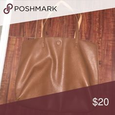 Pacsun tote bag Brown outside , orange inside PacSun Bags Totes