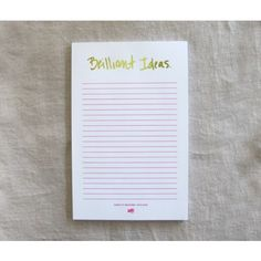 Brilliant Ideas Foil Notepad - Notepads from Ashley Brooke Designs