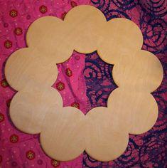 Unfinished wood wooden WREATH shape style 2  17.5'' by LaserLizard, $8.00