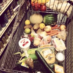 One #HungerChallenge Week grocery cart.