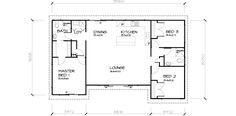 PLB102 3 Bedroom Transportable Homes House Plan