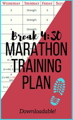 Finally run that sub marathon with this training program. With structured speed workouts, strength training, cross training, easy miles and long runs - this full marathon training plan will help you break with ease! Running For Beginners, How To Start Running, How To Run Faster, How To Run Longer, Speed Workout, Running Workouts, Running Tips, Running Shirts, Fun Workouts