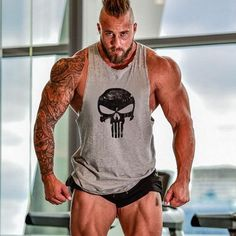 Fitness Tank Top Men Bodybuilding Clothing Fitness Men Shirt Crossfit Vests Cotton Singlets Muscle Top Punisher ZOOTOP BEAR