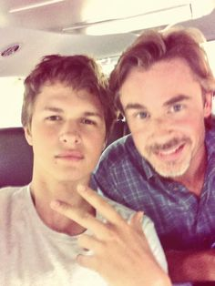 The Fault in Our Stars.......Ansel Elgort and Sam Trammell